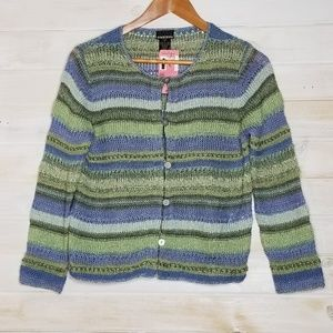 Sigrid Olson Cardigan Linen Button Down Striped
